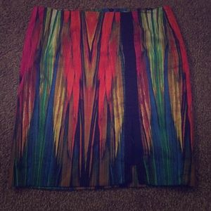 A rainbow colored skirt